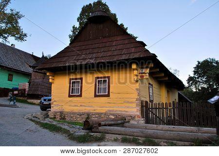 Vlkolinec, Ruzomberok, Slovakia - September 10, 2018: Traditional Karpathian Houses In Village Vlkol