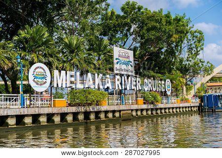 Melaka, Malaysia December 30, 2018: The River Cruise, A Service Provided By The Melaka River Cruise