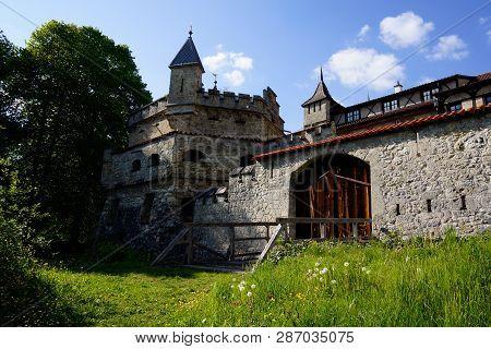 Entrance To Lichtenstein Castle In Germany Bad Urach