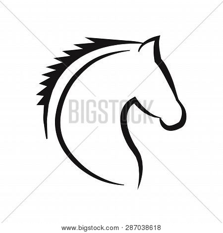 Horse Head Icon Isolated On White Background. Horse Head Icon In Trendy Design Style. Horse Head Vec