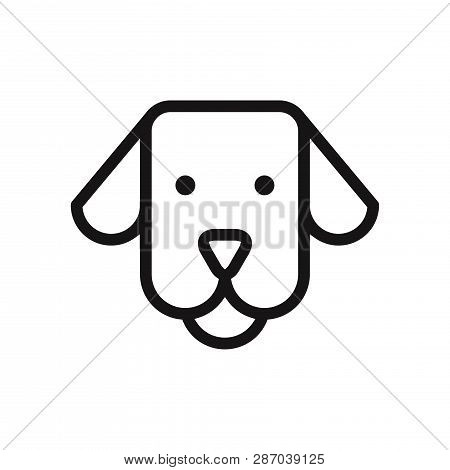 Dog Face Icon Isolated On White Background. Dog Face Icon In Trendy Design Style. Dog Face Vector Ic