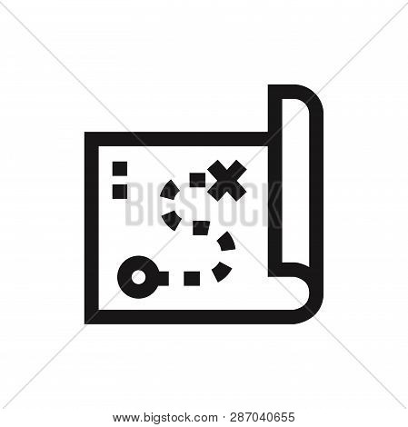 Map Icon Isolated On White Background. Map Icon In Trendy Design Style. Map Vector Icon Modern And S