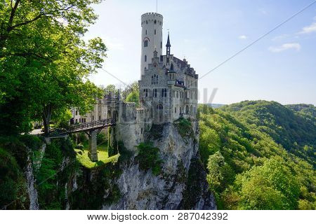 Ancient German Castle On Top Of Mountain