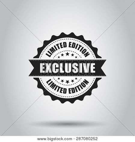 Exclusive Grunge Rubber Stamp. Vector Illustration On White Background. Business Concept Exclusive L