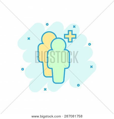 Cartoon Colored People Icon In Comic Style. People Illustration Pictogram. Users Person Person With