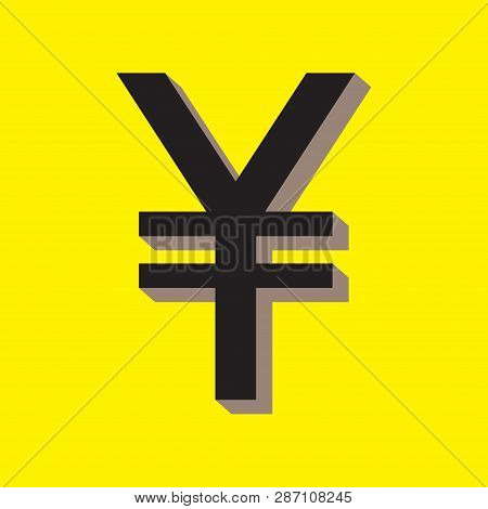Yuan (renminbi, rmb, yen) icon. Money symbol. Vector illustration. poster