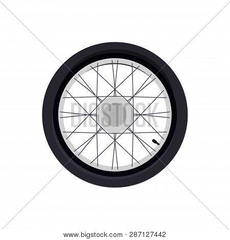Wheel For A Motorcycle. Wheel. Wheel Logo. White Background. Vector Illustration. Eps 10.