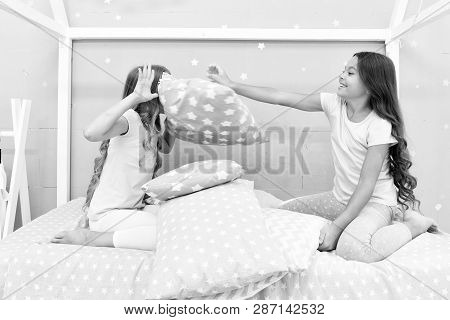Pillow Fight Pajama Party. Sleepover Time For Fun. Best Girls Sleepover Party Ideas. Soulmates Girls
