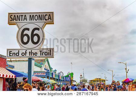 Amusement Park-pacific Park On Santa Monica Pier. La. California.