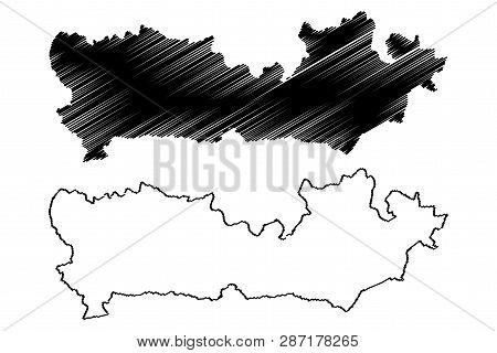 Berkshire (united Kingdom, England, Non-metropolitan County, Shire County) Map Vector Illustration,