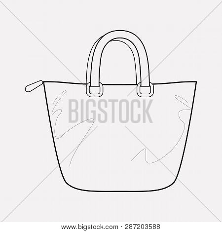 Trapeze Bag Icon Line Element.  Illustration Of Trapeze Bag Icon Line Isolated On Clean Background F