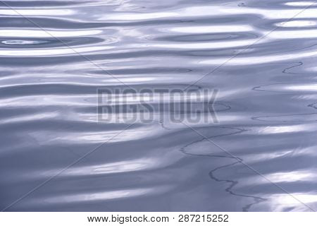 Abstract Background Of Wave On The Surface, River Surface With Sun Light Reflected On Water Skin, Sm