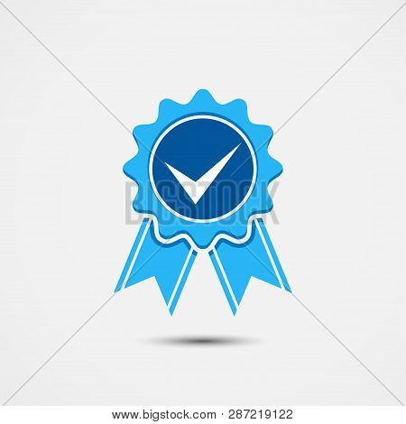 Vector Icon Illustration, Approved Accept Certified Icon. Guarantee Icon, Quality Product Symbol, Me