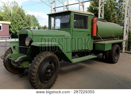 Moscow, Russia - June 20, 2018: Petrol Tanker Bz-43 On The Basis Of The Chassis Of A Truck During Th