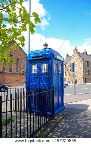 This Is One Of Only 4 Surviving Police Boxes In Glasgow And Dates From 1935.  It Is Also Known As Th