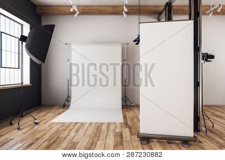 Photo Studio With Banner