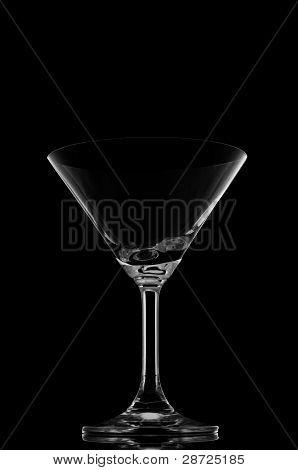 Cocktail Glasses On Black