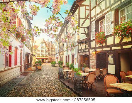 Petit France Medieval District Of Strasbourg At Spring, Alsace France