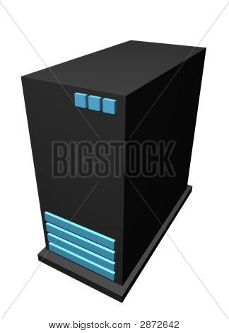 Servers - Clip Art Icon Isolated