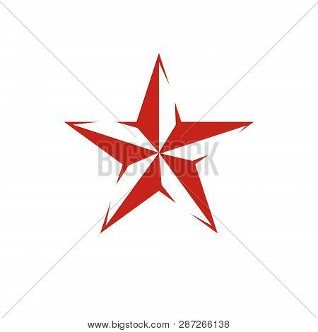 Vector star illustration as the symbol of success. Can be used as the interpretation of totalitarianism as the evil power, ideological propaganda. poster