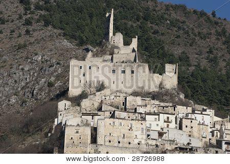 De Sanctis castle, Roccacasale, Abruzzi,Italy