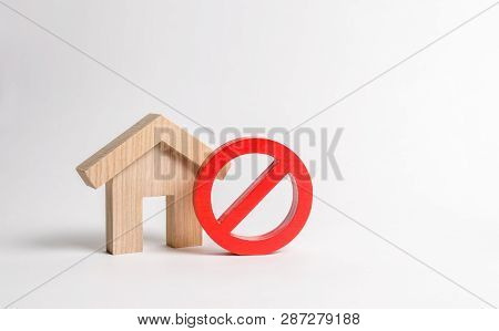 No Sign And The Wooden House. Unavailability Of Housing, Busy Or Low Supply. Inaccessible And Expens