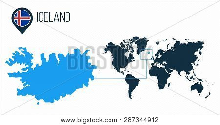 Iceland Map Located Vector & Photo (Free Trial) | Bigstock