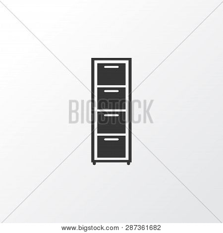 Drawer unit icon symbol. Premium quality isolated dresser element in trendy style. poster