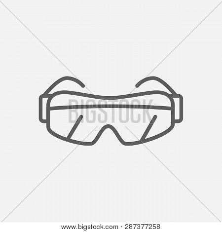 Safety Glasses Icon Line Symbol. Isolated Vector Illustration Of  Icon Sign Concept For Your Web Sit