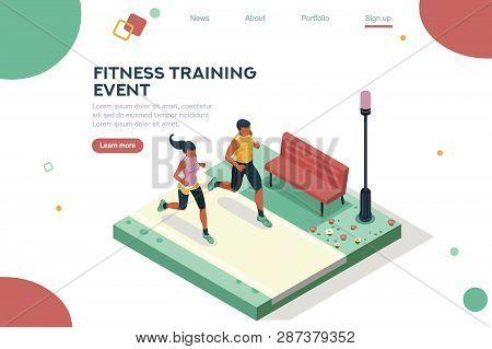 Marathon Race Event. Fitness Sneakers. Training On The Road. Run Sprint, Health Dynamics People Spri