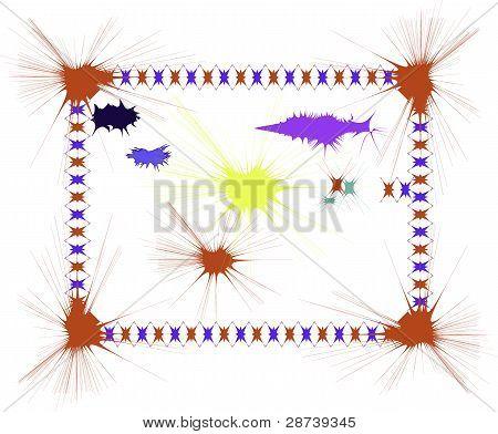 Ink Splatter Border