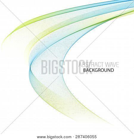 Abstract Waving Background With Blue And Green Element