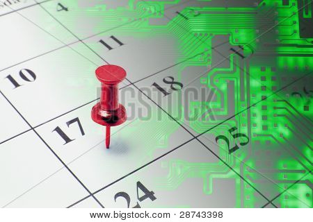 Calendar And Circuit Board