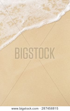 Tropical Beach Background With Soft Wave And Sand