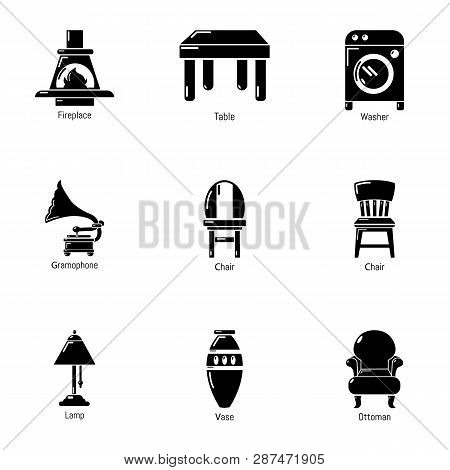 Parlour Icons Set. Simple Set Of 9 Parlour Icons For Web Isolated On White Background