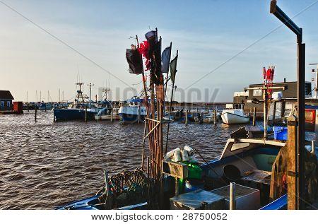 Bork Harbour In Denmark
