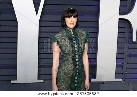 BEVERLY HILLS - FEB 24: Rumer Willis at the 2019 Vanity Fair Oscar Party at The Wallis Annenberg Center for the Performing Arts on February 24, 2019 in Beverly Hills, CA