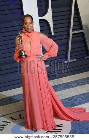 BEVERLY HILLS - FEB 24: Regina King at the 2019 Vanity Fair Oscar Party at The Wallis Annenberg Center for the Performing Arts on February 24, 2019 in Beverly Hills, CA