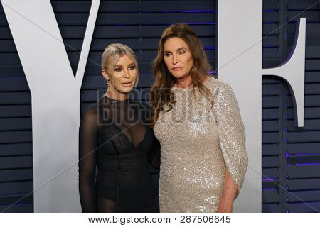 BEVERLY HILLS - FEB 24: Sophia Hutchins, Caitlyn Jenner at the 2019 Vanity Fair Oscar Party at The Wallis Annenberg Center for the Performing Arts on February 24, 2019 in Beverly Hills, CA