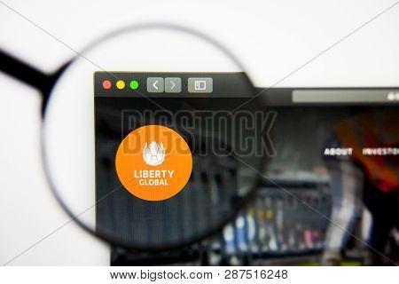 Los Angeles, California, Usa - 28 February 2019: Liberty Global Website Homepage. Liberty Global Log