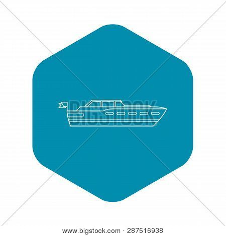 Big Yacht Icon. Outline Illustration Of Big Yacht Vector Icon For Web