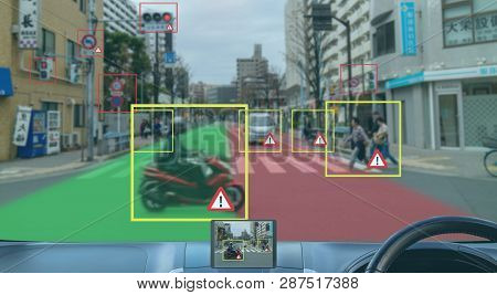 Iot Smart Automotive Driverless Car With Artificial Intelligence Combine With Deep Learning Technolo