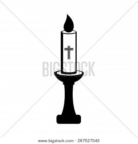 Isolated Paschal Candle Icon. Vector Illustration Design