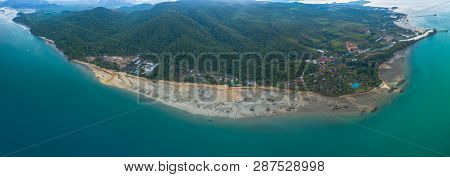 Tup Kaek Beach Close To Kwang Beach And Non Nak Mountain During Low Tide  Can See Long And Large Bea
