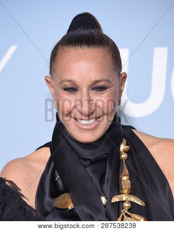 LOS ANGELES - FEB 21:  Donna Karan arrives for the UCLA Hollywood for Science Gala on February 21, 2019 in Los Angeles, CA