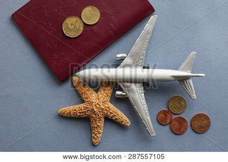 Travel background concept with airplane