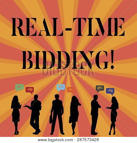 Text Sign Showing Real Time Bidding. Conceptual Photo Buy And Sell Advertising Inventory By Instant
