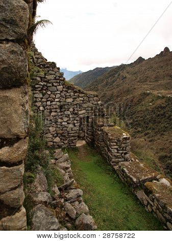 Inca city in the mountains