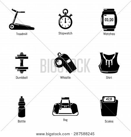 Workout Room Icons Set. Simple Set Of 9 Workout Room Icons For Web Isolated On White Background