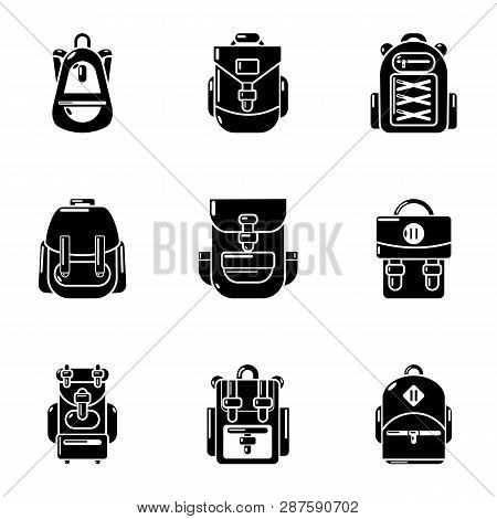 Knapsack Icons Set. Simple Set Of 9 Knapsack Icons For Web Isolated On White Background